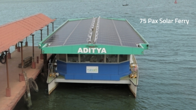 India's first solar powered boat - ADITYA